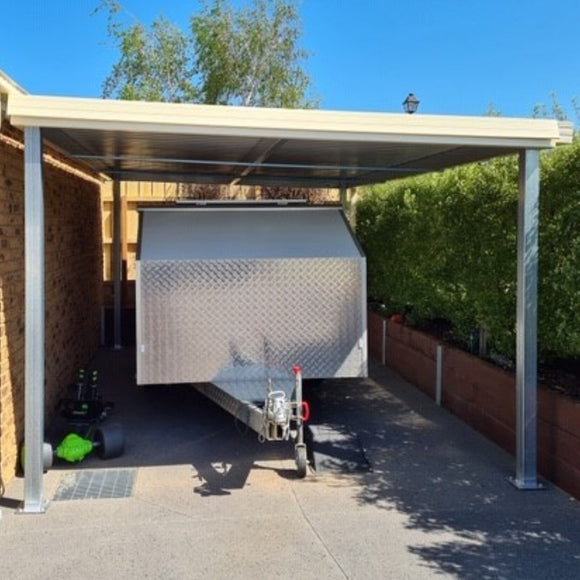 Professional Choice Skillion Carport Render - Car Covers and Shelter