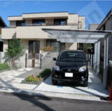 Cantilever Style Carport single flat roof by Cantaport Car Covers and Shelter
