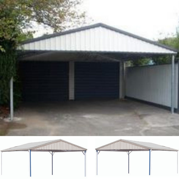 Double Gable roof Carport Spanbilt Car Covers and Shelter