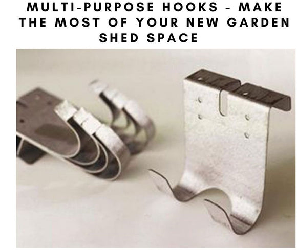 Multi purpose shed hooks