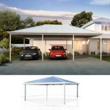 Hip Roof triple Carport Lysaght Car Covers and Shelter