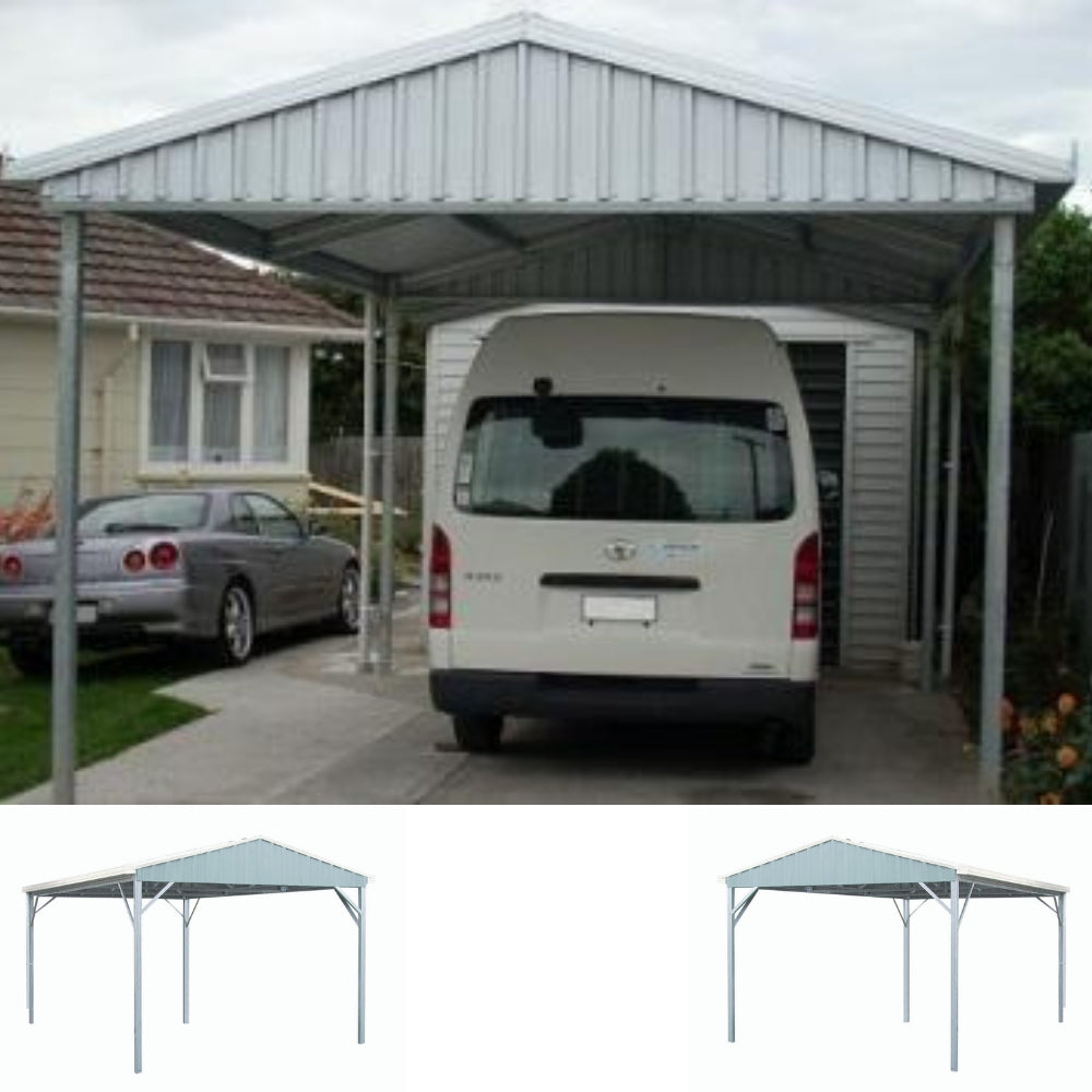 Single Gable Roof Budget Carport Car Covers And Shelter