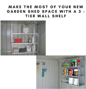 Garden Shed 3-tier wall shelf