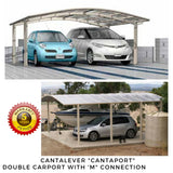 Cantilever double carport by Cantaport Car Covers and Shelters
