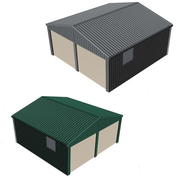 double  garage with window Car Covers and Shelter