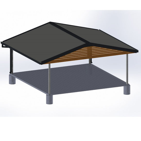 Render of professionalo Choice gable - Car Covers and Shelter