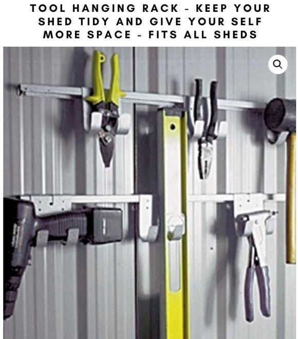 Shed tool hanging rack - Car Covers and Shelter