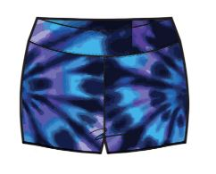 Purple Tie Dye Sport Short