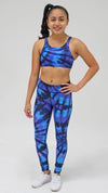 Purple Tie Dye Legging