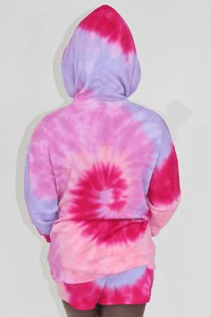 Sunset Swirl Tie Dye Short