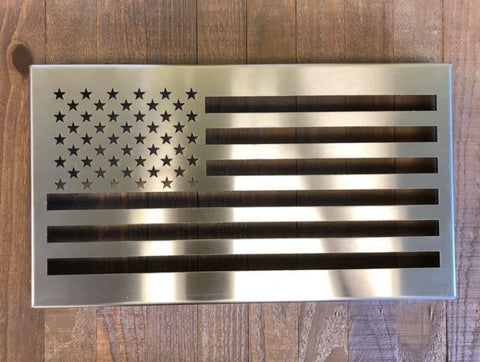 Dark Steel U.S.A. Flag (with or without LED/Acrylic color changing lights)