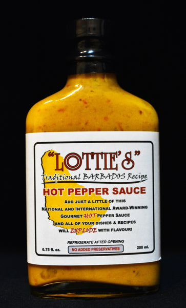 Lottie's Hot Pepper Sauce - Yellow - Traditional Barbados Recipe