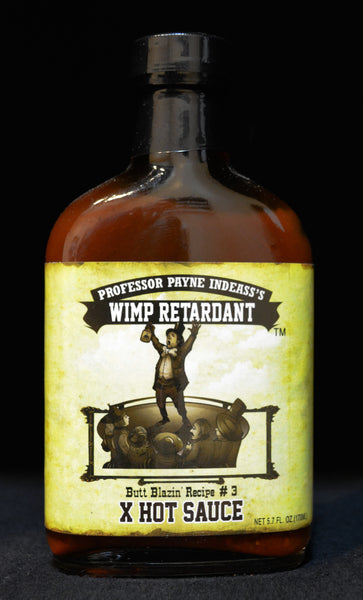 Professor Payne Indeass's Wimp Retardant X Hot Sauce