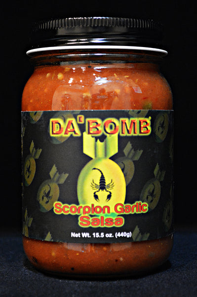 Da' Bomb Scorpion Garlic Salsa