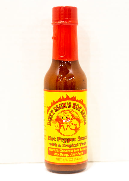 Dirty Dick's Hot Pepper Sauce With A Tropical Twist
