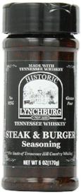 Historic Lynchburg Tennessee Whiskey Steak and Burger Seasoning