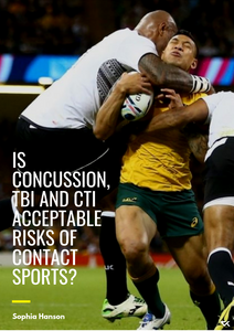 Is Concussion, TBI and CTE acceptable risks of contact sports? Why professional athletes are adding CBD to their recovery supplements.