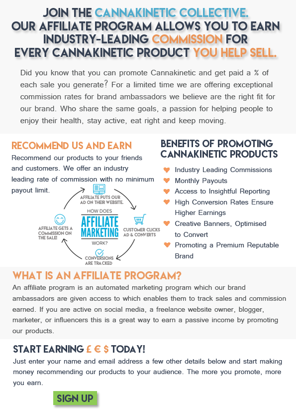 Premium CBD Affiliate program. Bloggers and influences wanted