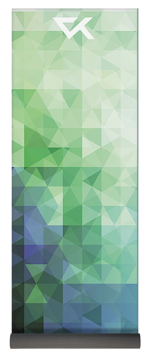 Blue Green Geometric Yoga Mat