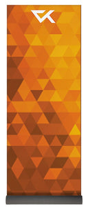 Orange Geometric  Yoga Mat