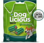 Snacks Dog Licious Dental Fresh para Perros x 65 grs