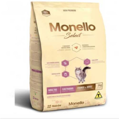 MONELLO GATO SELECT CASTRADO X 2 KG