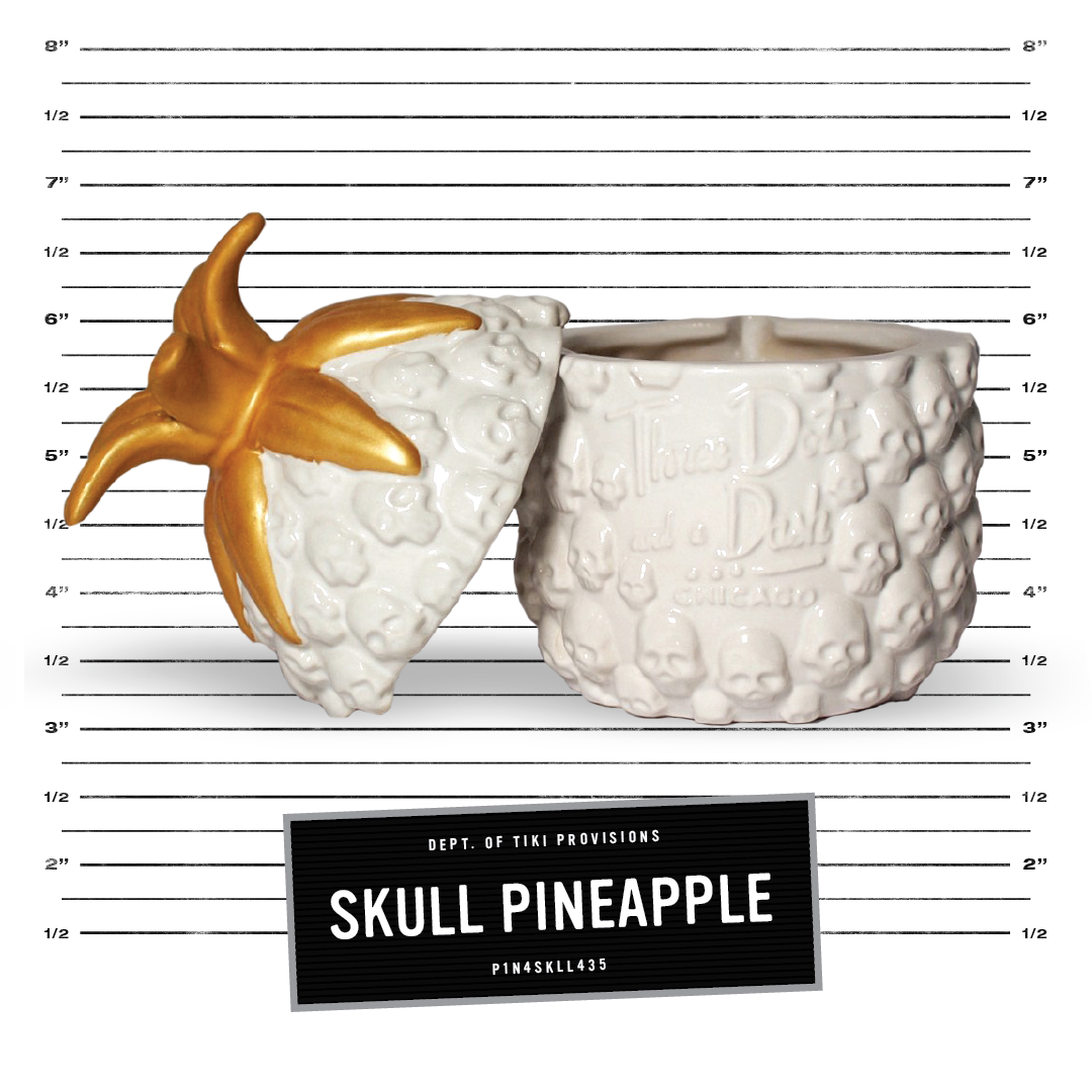Skull Pineapple - White