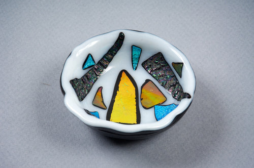 Heady White Dichro Ashtray