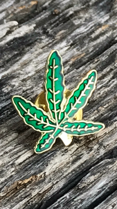 Weed Leaf Hat pin