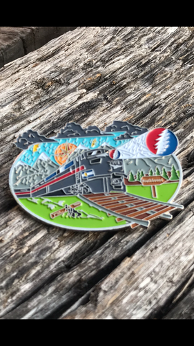 """I Know You Rider"" Greatful Dead Dab Train numbered Hat pin"