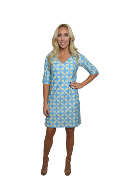 Julie 3/4 Sleeve Ruffle Dress