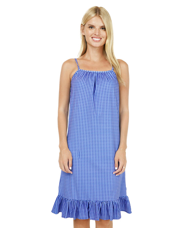 Cyclades Spaghetti Strap Ruffle Dress