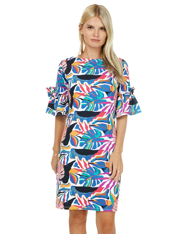 Bahamas Bell with Bow Sleeve Dress