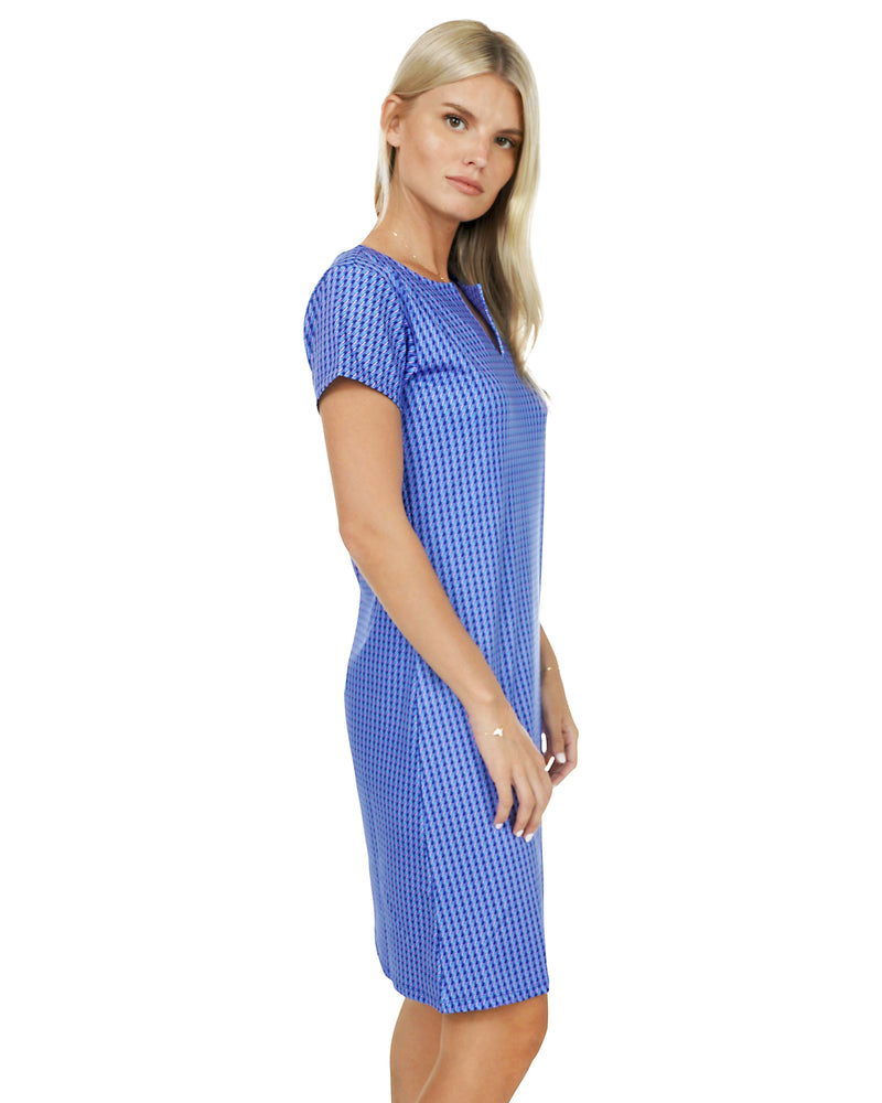 Cyclades Cap Sleeve Slit Front Dress