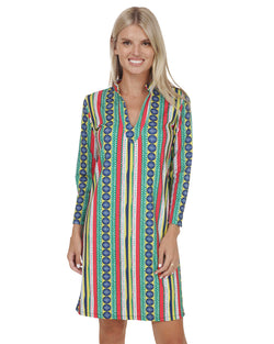 Isla del Sol Mock Neck Tunic