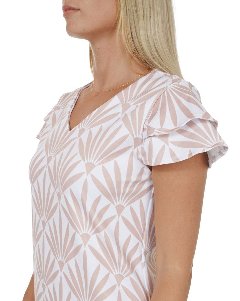 Makatea V-Neck Double Ruffle