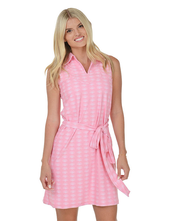 Pink Sands Sleeveless Polo Dress