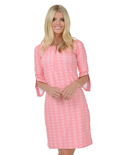 Pink Sands 3/4 Sleeve Dress