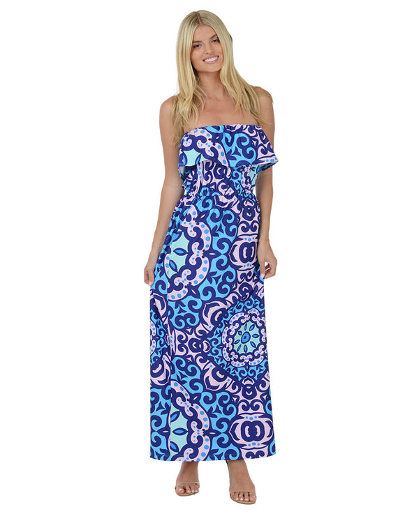 La Concha Ruffle Maxi Dress