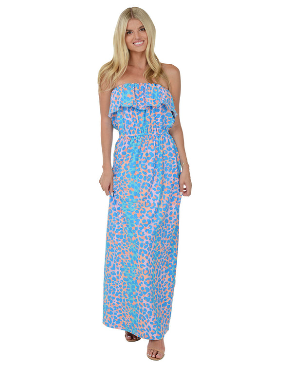 Virgin Gorda Ruffle Maxi Dress