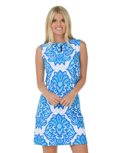 Tasman Sea Sleeveless Shift Dress