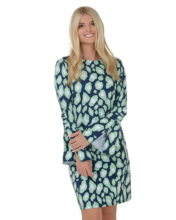 Lucayan Ruffle Bell Sleeve Dress
