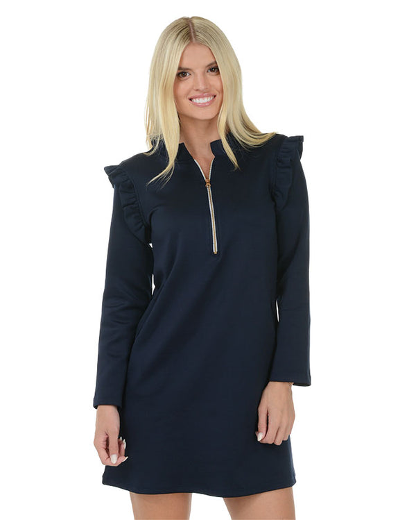 Deep Sea Zip Front Dress