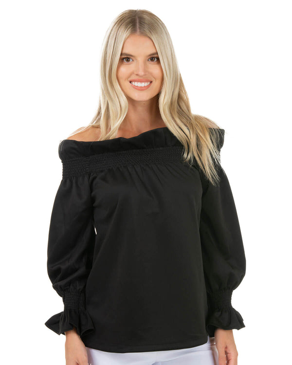 Off-the-Shoulder Ruffle Blouse