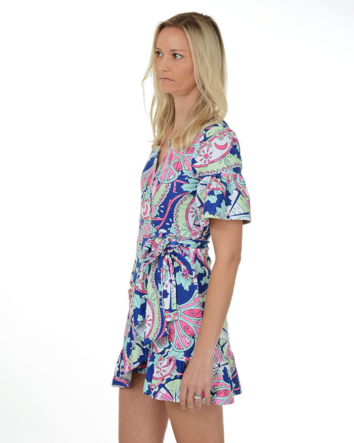 Caye Caulker Ruffle Wrap Dress