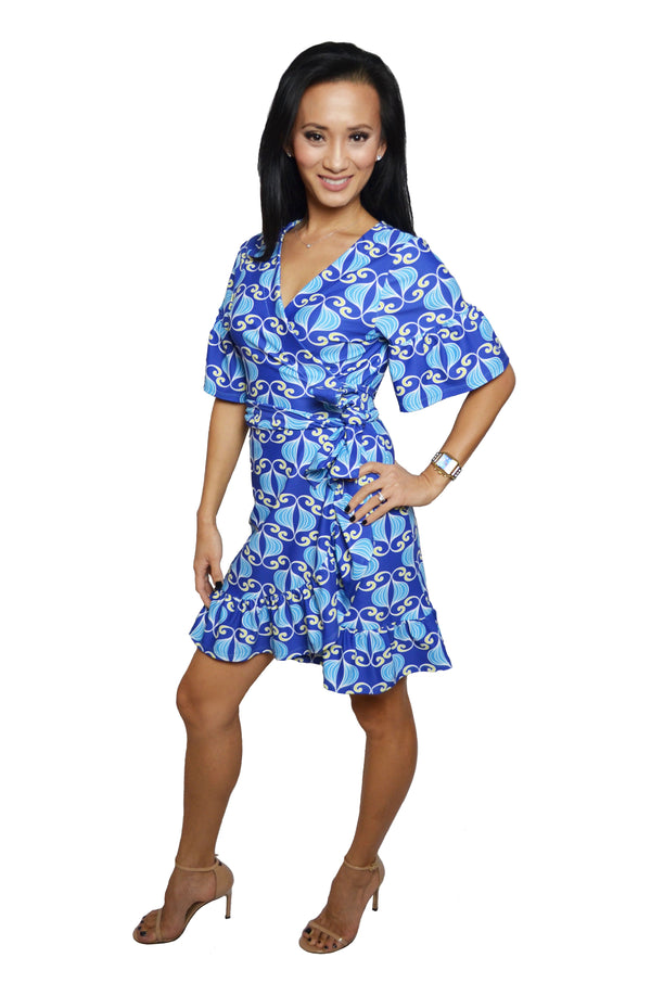 Ashley Ruffle Wrap Dress