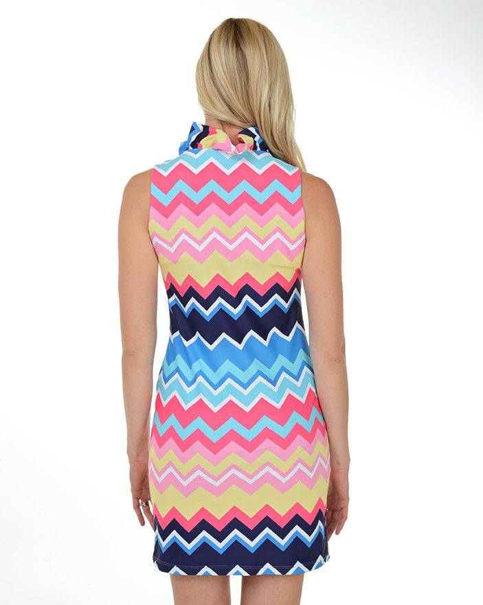 Copacabana Ruffle V-Neck Dress