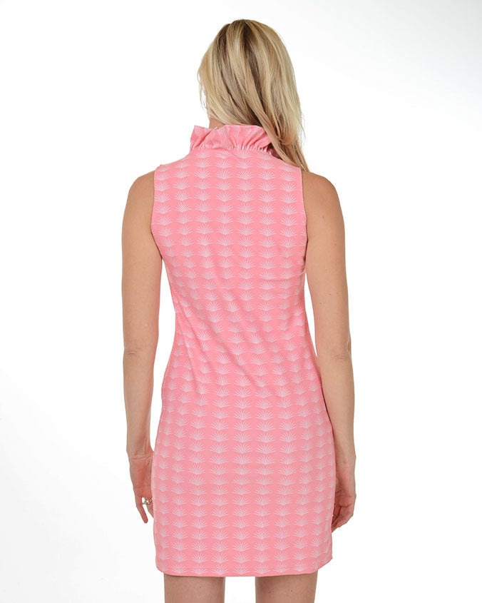 Pink Sands Ruffle V-Neck Dress