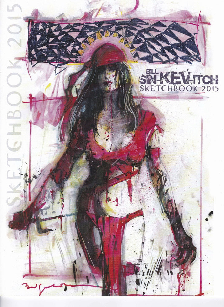 Bill Sienkiewicz Sketchbook 2015 Signed Edition