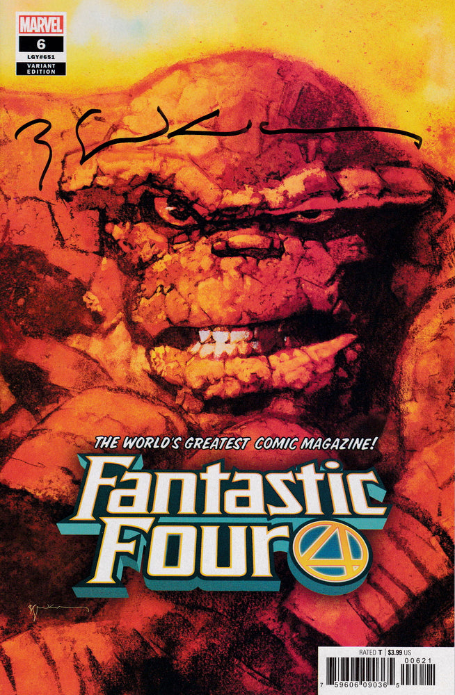 Fantastic Four #6 The Thing Portrait Variant Signed